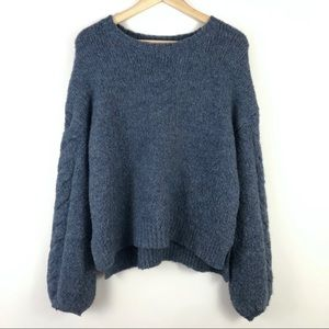 Universal Thread Blue Alpaca Wool Blend Sweater M